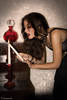 Candle Story (Elinska Aurora) Tags: light portrait woman paris hot cute sexy girl photo model candle dress photoshoot photos grunge gothic goth aurora glam romantic baroque mode gothique bougie romantique courtisane gothicculture