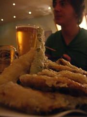 Tempura, beer and Ribot