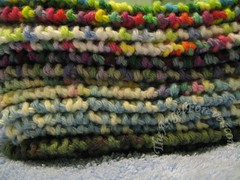 Closer view of the knitty goodness