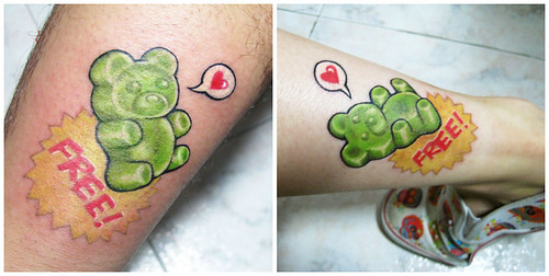 Gummi bear tattoo