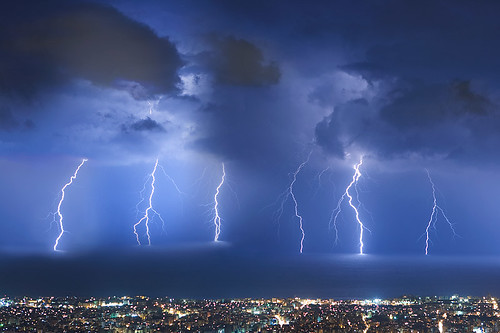 Thunderstorm over Beirut