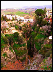The Deep El Tajo Gorge (j glenn montano 3) Tags: old bridge rio puente spain village glenn deep el andalucia ronda gorge viejo tajo malaga province montano the guadalevin justiniano colourartaward