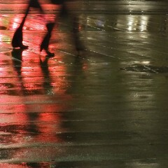 Anorexic Games (edouardv66) Tags: street longexposure girls red color reflection wet water rain night walking lights switzerland nikon women shoes highheel suisse geneva legs sigma genve 2470 nikonsigma d700