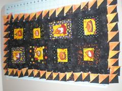 Sideways pumpkins (craftyturtle1) Tags: sewing seasonal liberated collaborativequilting
