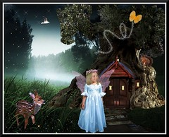 background tree house 2 (Lala50) Tags: wings fairy fawn fantasy sensational colorphotoaward