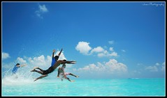 A Jumpstart for a Better Day! (Prof EuLOGist) Tags: sea beach water clouds jump paradise 10 speedboat running crew captain sirius anil splash maldives enjoyment atoll jinan hussain ayya mywinners dhaalu aaqleem bozbiyik zaaem