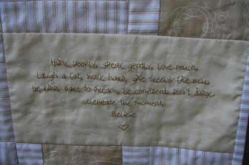 Denby's quilt - October 2008