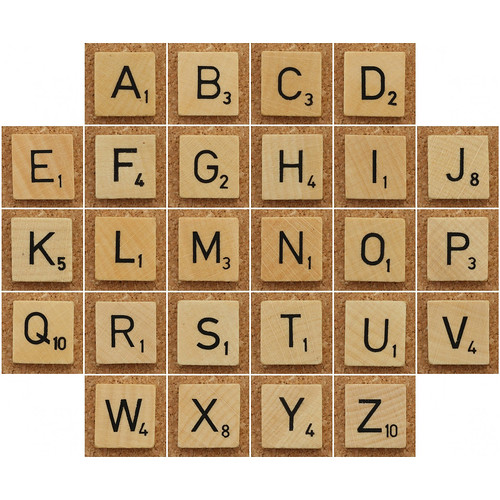 Wood Scrabble Tiles par Leo Reynolds