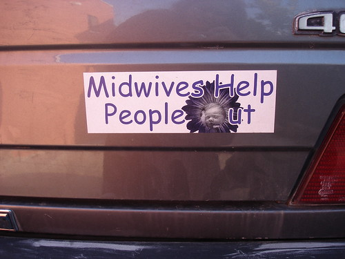 Midwifery bumper sticker by RahelSharon.