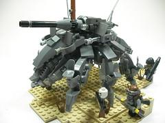 Apocalego: The Bley Juggernaut: Overall (Crimson Wolf) Tags: lego gray walker juggernaut mech wasteland postapoc apocalego