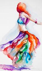 study for dancing flame (segismundoart) Tags: motion art lady watercolor dance movement dancers dancing fineart performance dancer grace study ballroom gerardo segismundo femaledancer segismundoart gerrysegismundo gera