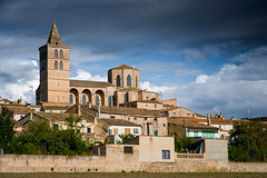 Light On Sineu (Philipp Klinger Photography) Tags: blue light sky cloud tower church clouds island islands spain europa europe market espana mallorca philipp spanien baleares balearic sineu balears klinger illes dcdead