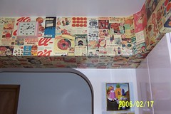 Decoupage of 50s ads (My Retro Reality) Tags: pink clock kitchen vintage ads retro decoupage