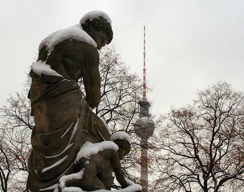 Malerei im Schnee