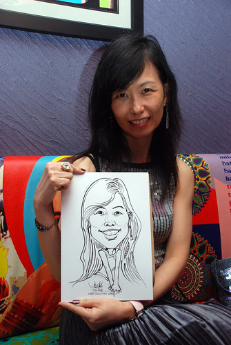 Caricature live sketching for Dow Jones 4