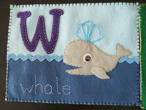 W is for whale - finished by little blue hen, on Flickr