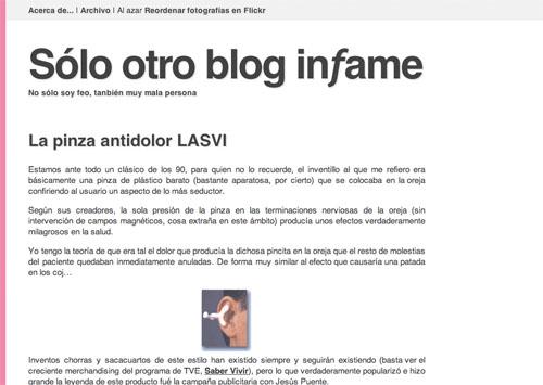 Quinto theme de Sólo otro blog infame, mucho más rosa