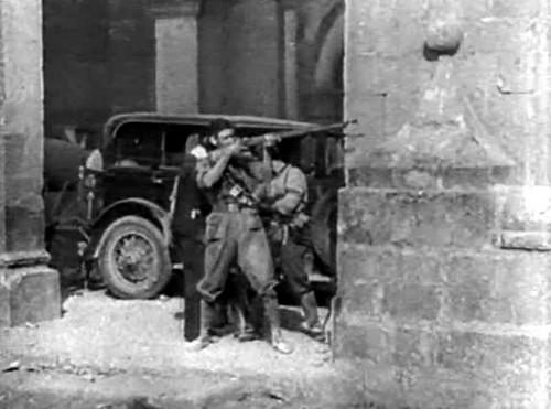 Milicianos en las calles de Toledo