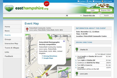 EastHampshire.org Event Map