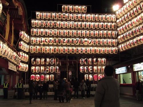宵宮祭の拝殿前
