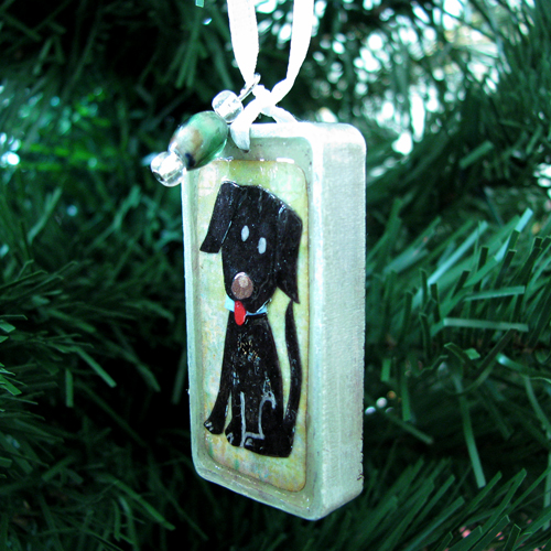 Black Lab Puppy Ornament - Custom Order