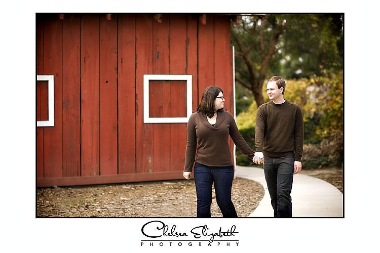 Camarillo Ranch Engagement Photo Lesile looking back