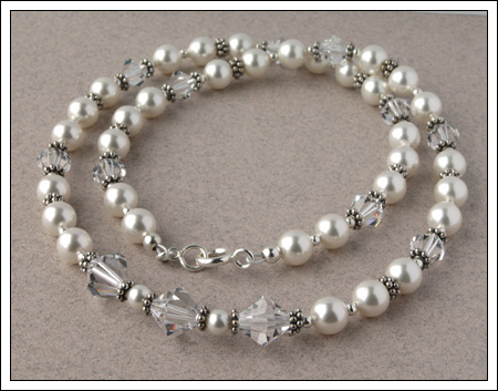 Swarovski pearl & crystal necklace