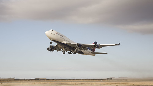 Delta Boeing 747 taking off