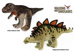 peluches - Tyrannosaurus rex & Stegosaurus