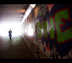 Light at the end.. (Roy G.) Tags: hungary grafiti quality budapest large tunnel professional boedapest hongarije canonpowershotg9 roygrundeken dpsstranger
