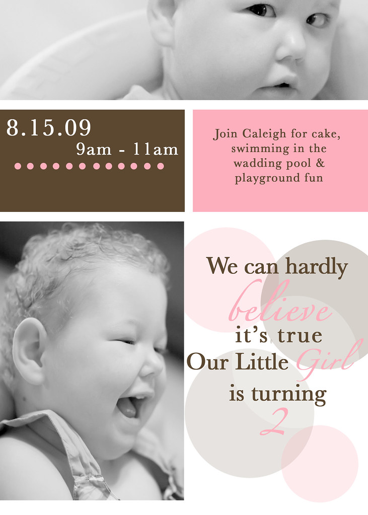Caleigh's 2nd B-Day Invite