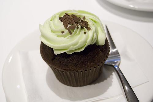 choc mint cupcake