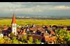ammerschwihr (oliv67) Tags: jaune automne village vignes vignoble clocher ammerschwihr