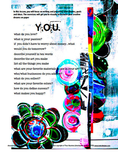 a page from Lesson one discovering YOU ecourse
