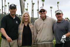 Board Member Lori Iaquinta with Steve Young, Steve Fricker, and Brett Almquist