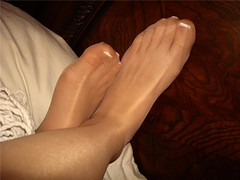 35 (feetman1) Tags: feet stockings toes femalefeet frenchpedicure
