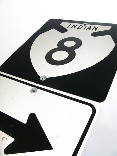 Indian road in the San Carlos Indian Reservation near Peridot, Arizona, USA