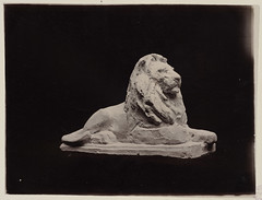 Plaster model of Louis Saint Gaudens lion statue, side view