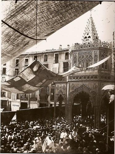 Corpus en Zocodover, arquitectura efímera (Foto Rodríguez)