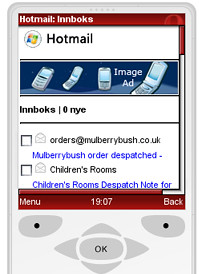 Windows Live Mobile Hotmail Ad