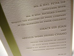 Grace & Arthur Wedding Invitations - Invite Closeup