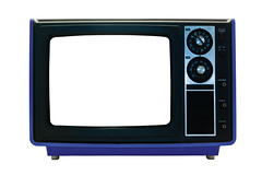 Blue Retro TV Isolated with Clipping Paths (Craig Jewell Photography) Tags: old blue news television tv portable path lounge tube dial style funky retro monitor communication electronics tele copyspace tune eighties knob electronic knobs seventies isolated uhf vhf craigjewellphotography