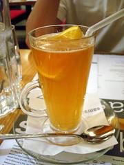 Iced Tea (su-lin) Tags: food orange cold london glass restaurant tea spoon brunch iced chiswick samsbrasserie