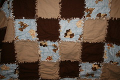 Ragged side of the bear quilt