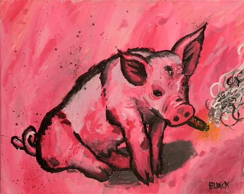 Pig smoking joint