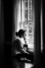 Lauren (PGornell) Tags: portrait blackandwhite lauren window girl pensive spontaneous alexssister edsdaughter thepinnaclehof tphofweek7