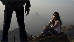 you bet - she'll win!, matheran (nevil zaveri) Tags: portrait people woman india selfportrait man mountains silhouette manipulated self myself photography blog photographer photos dusk stock silhouettes images photographs photograph western maharashtra myfamily zaveri silhoutte matheran stockimages ghats travelogue nevil peopleandplaces theverybestofme nevilzaveri