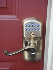 Combo lock on the side door
