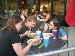 Alfresco dining at Noodles