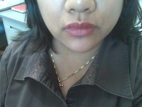 My lips feel big